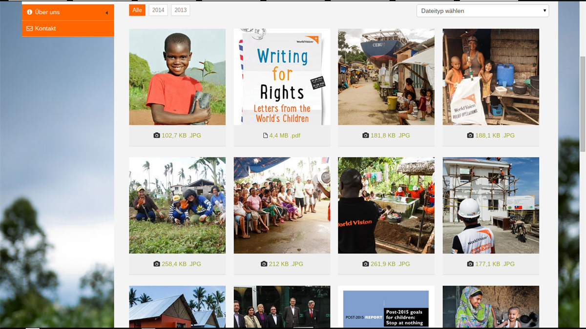 Screenshot PResstige World Vision Newsroom